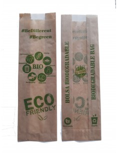 Bolsas kraft con ventana biodegradable - Impresión genérica