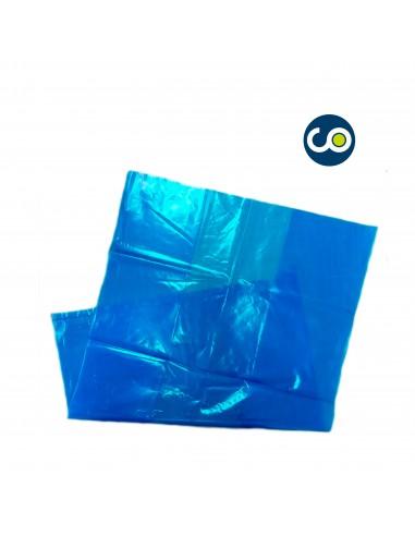 Saco de plástico azul